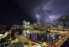 Gewitter von Darling Harbour Stockbild