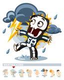 Gewitter. Wetter-Ikone