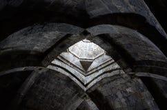 Gewölbte Decke der alten christlichen Kirche mit, Armenien Lizenzfreie Stockbilder