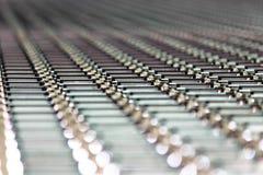 Gewölbter Zinkplatten-Dachhintergrund Lizenzfreies Stockbild