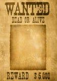 Gewünschtes Plakat Stockbilder