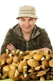 Gewohnheitssammler der Pilze Stockfoto