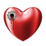 Gewond aftappend rood liefde gebroken hart Royalty-vrije Stock Foto