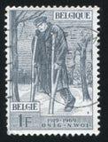 Gewonde door België wordt gedrukt dat stock afbeelding