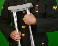 Gewonde Militair Veteran Stock Afbeeldingen