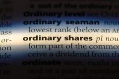 gewone aandelen royalty-vrije stock foto