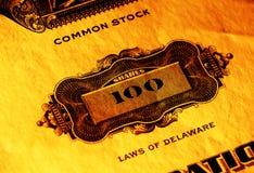 Gewone aandelen stock afbeelding