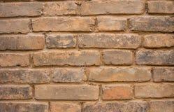 Gewone bakstenen muur Royalty-vrije Stock Foto's