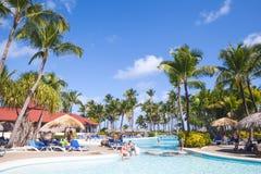 Gewone toeristen in de Prinses van Punta Cana Bavaro Stock Foto