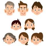 Gewoon de uitdrukkingspictogram van de drie generatiesfamilie royalty-vrije illustratie