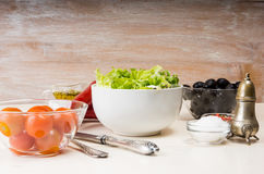 Geworfener Salat Lizenzfreie Stockfotografie