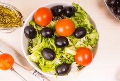Geworfener Salat Lizenzfreies Stockbild