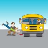 Geworpen onder Bus royalty-vrije illustratie