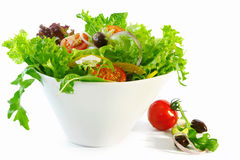 Geworpen Salade Stock Foto