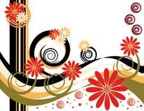 Gewundene Blumen-Fantasie lizenzfreie abbildung