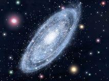 Gewundene Galaxie Stockbild