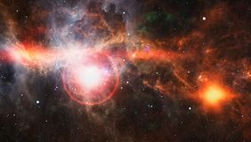Gewundene Galaxie im Weltraum Elemente dieses Bildes geliefert von der NASA stock abbildung