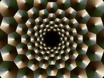 Gewundene Kegel des Eisens Fractalgraphiken Hintergrund 3d Stockfotos