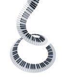 Gewundene Klaviertasten Stockfotos