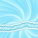 Gewundene Leuchte der flippigen Luftblasen Lizenzfreies Stockbild