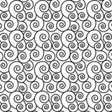 Gewundene Linie Muster des Monochroms Stockfotos