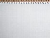 Gewundene Linie Notizbuch Stockfotografie