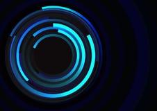 Gewundene Linie Zusammenfassungshintergrund des Kreises Stockbilder