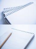 Gewundene Notizbücher Stockfoto