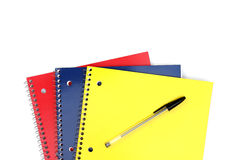 Gewundene Notizbücher Stockfotografie