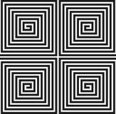 Gewundene quadratische Beschaffenheit. Nahtloses Muster. Lizenzfreies Stockfoto