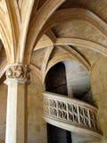 Gewundene Steintreppen. Cluny Museum. Paris. Frankreich. stockfoto