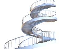 Gewundene strairs trennten Stockbild