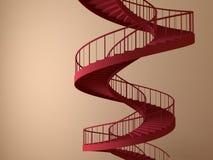 Gewundene strairs trennten Stockbilder