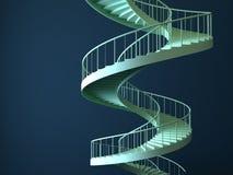 Gewundene strairs trennten Stock Abbildung