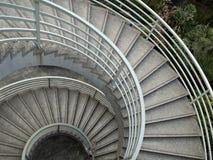 Gewundene Treppen der Kreisauslegung - Hintergrund Lizenzfreies Stockbild
