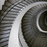Gewundene Treppeoberseite Stockfoto