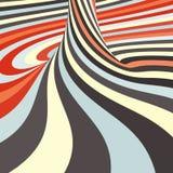 gewundener abstrakter Hintergrund 3d Optische Kunst Vektor Stockfoto