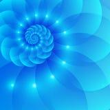 Gewundener abstrakter Vektorhintergrund des Blaus vektor abbildung