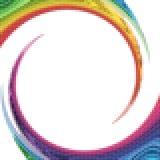Gewundener Auszug des Regenbogens Lizenzfreies Stockfoto