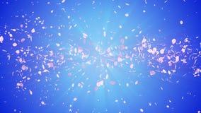 Gewundener glänzender Partikel der Kirschblüte Sakura Pattern Japanisches Kirschtanzen Turbulenz vom rosa Blumenblatt Abstrakte S lizenzfreie abbildung