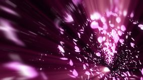 Gewundener glänzender Partikel der Kirschblüte Sakura Pattern Japanisches Kirschtanzen Turbulenz vom rosa Blumenblatt Abstrakte S stock abbildung