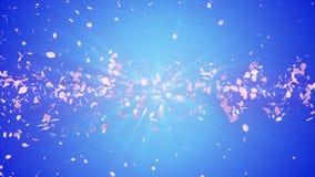 Gewundener glänzender Partikel der Kirschblüte Sakura Pattern Japanisches Kirschtanzen Turbulenz vom rosa Blumenblatt Abstrakte S vektor abbildung