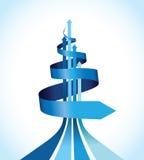 Gewundener Hintergrund des Blaus Lizenzfreie Stockbilder