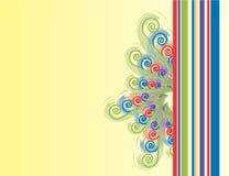 Gewundener N-Streifen-Hintergrund Stockfoto