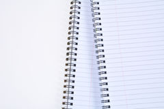 Gewundener Notizblock Stockbild