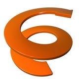 Gewundener Pfeil 3D der Orange Lizenzfreie Stockfotos