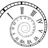 Gewundener römische Zifferen-BorduhrTime-Line Lizenzfreie Stockfotografie