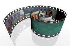 gewundener Streifen des Filmes 3d Lizenzfreie Stockfotografie