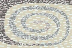 Gewundener strukturierter Fleckenhintergrundentwurf Vibrierende Farben Hand gezeichnet in Karikaturart lizenzfreie stockfotos