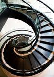Gewundener Treppekasten Stockbild